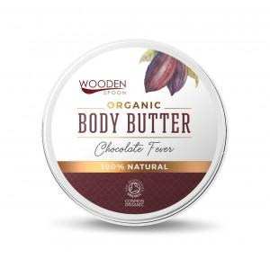 Органичен крем-бутер за тяло с масло от какао Chocolate Fever Wooden Spoon