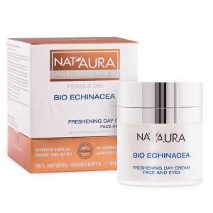 Освежаващ дневен крем за лице и околоочен контур Nat'Aura 20+ Biofresh