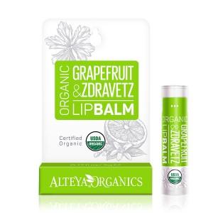 Bio organic lip balm with grapefruit and zdravetz Alteya Organics