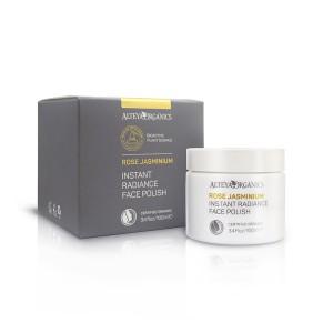 Bio organic facial exfoliator with rose and jasmine Alteya Organics