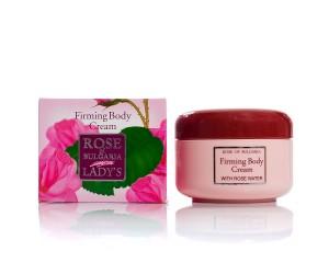 Стягащ крем за тяло с розова вода Rose of Bulgaria Biofresh