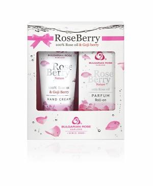 Подаръчен комплект - парфюм рол-он и крем за ръце Rose Berry Nature Българска роза Карлово