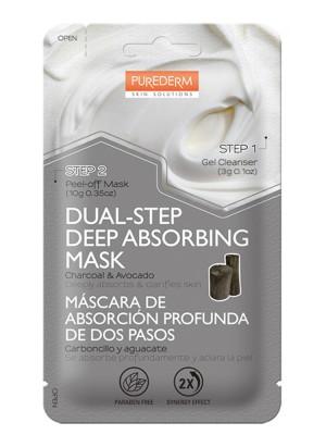 Дълбоко почистваща черна маска в две стъпки Purederm