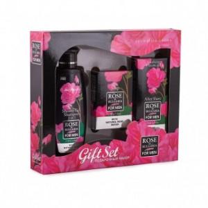 Подаръчен мъжки комплект  с мини душ гел и шампоан, сапун и афтършейв крем Biofresh