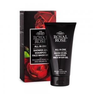 3 в 1 шампоан и измивен гел за лице и тяло Royal Rose Biofresh