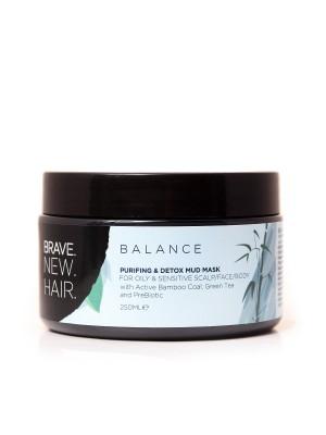 Маска за коса Balance за почистване и детоксикиране от Brave New Hair