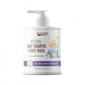 Бебешки натурален шампоан за коса и тяло Organic Herbs Wooden Spoon