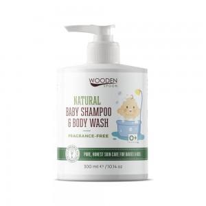 Бебешки натурален шампоан за коса и тяло без аромат Wooden Spoon