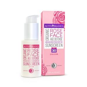 Био органичен слънцезащитен крем за лице SPF30