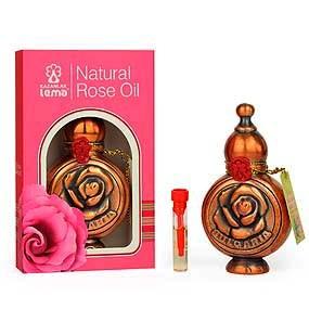 Натурално българско розово масло в меден обков Lema 0.5 мл.