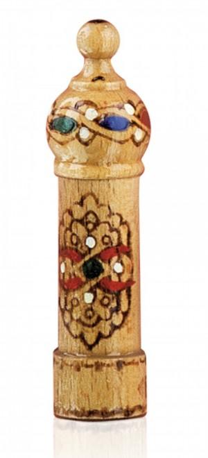 Фиолка парфюмна есенция с аромат на роза в дървен мускал Lema